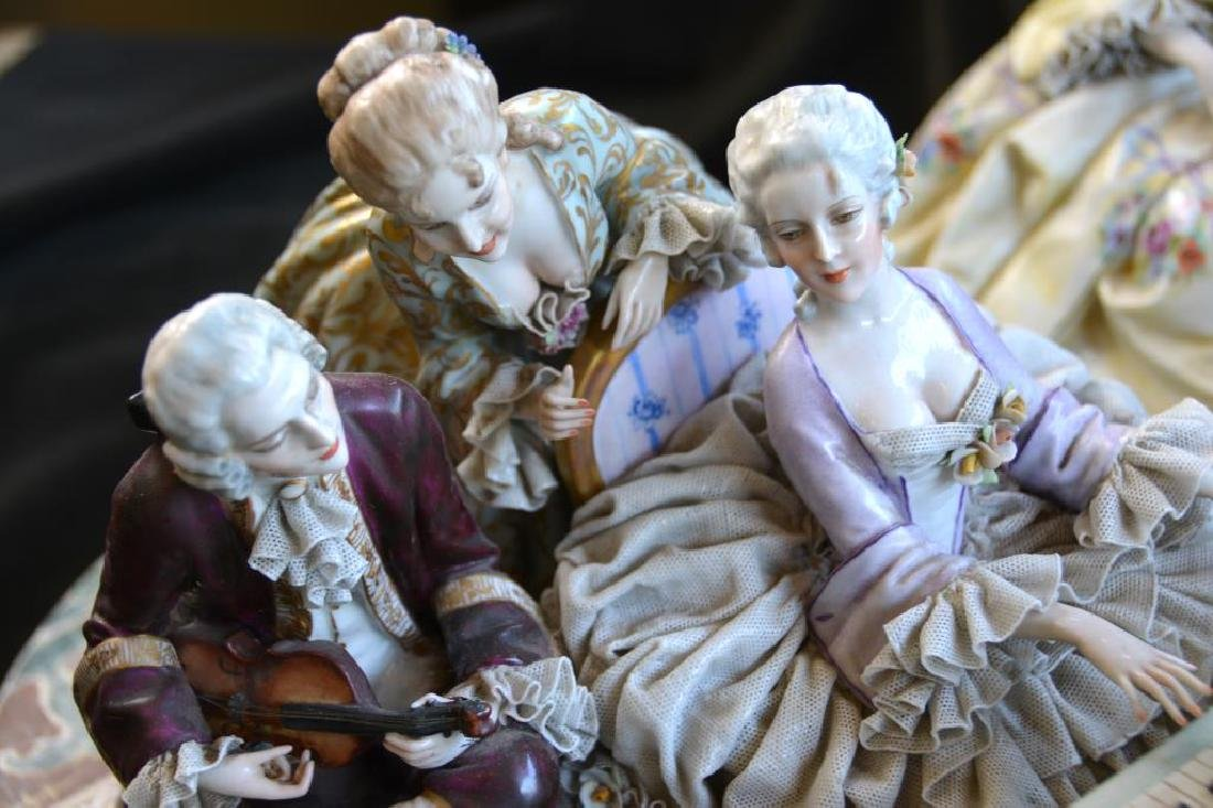 MONUMENTAL CONTINENTAL PORCELAIN FIGURAL GROUP - 3