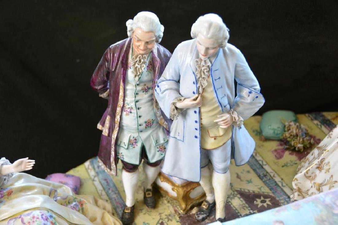 MONUMENTAL CONTINENTAL PORCELAIN FIGURAL GROUP - 7