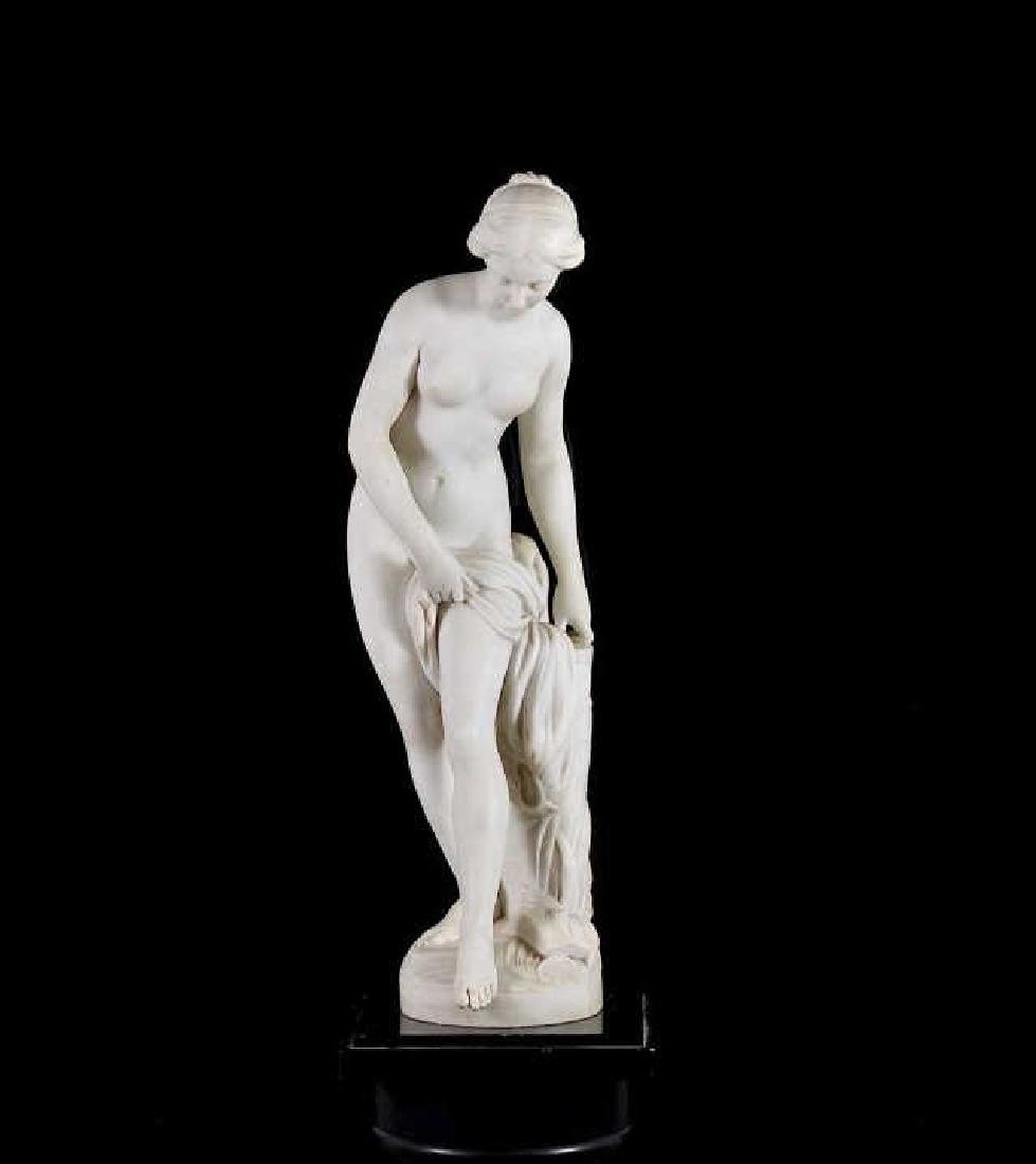 FRENCH 19th C MARBLE SCULPTURE OF A NUDE