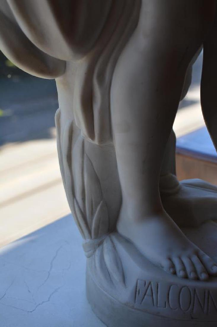 FRENCH 19th C MARBLE SCULPTURE OF A NUDE - 2