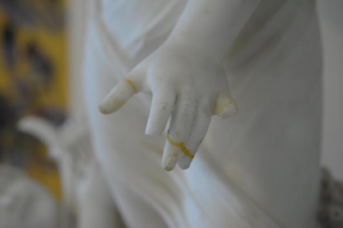 ITALIAN WHITE CARRERA MARBLE SCULPTURE - 2