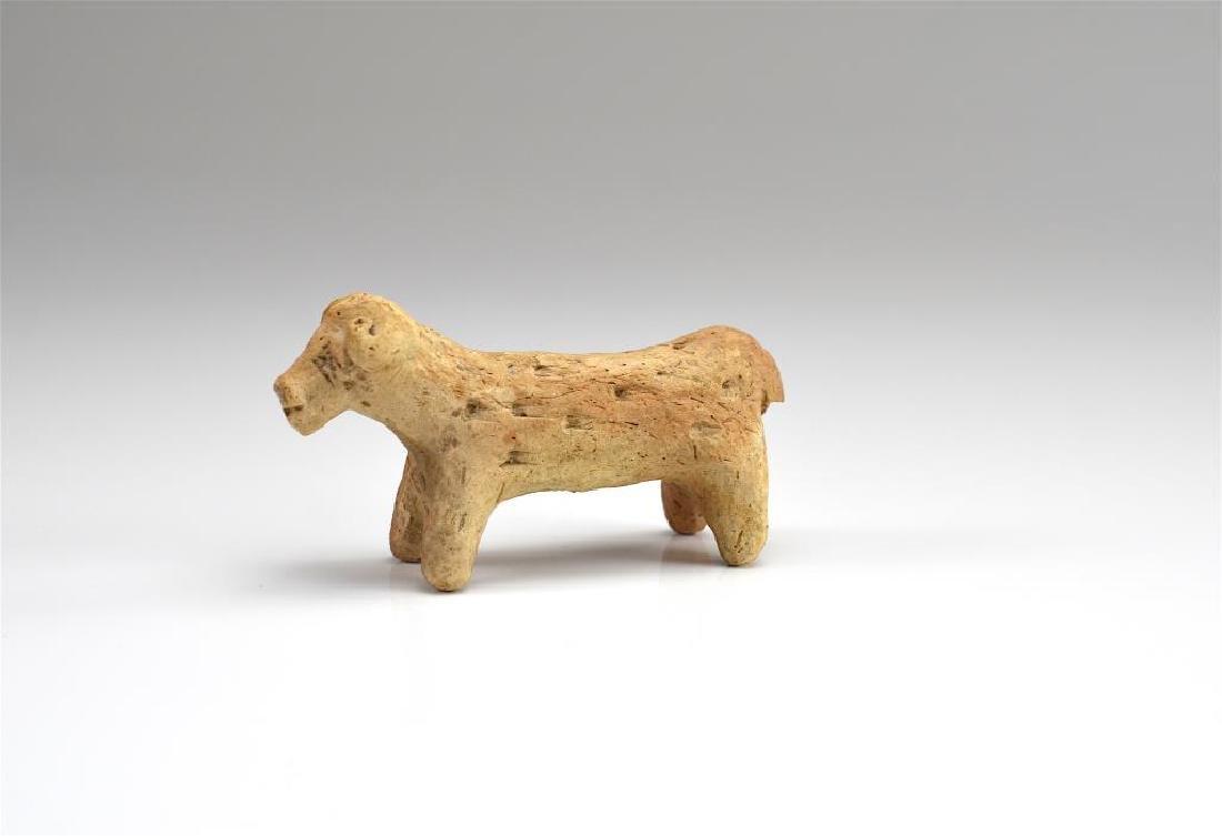 ANCIENT TERRACOTTA RAM FIGURE