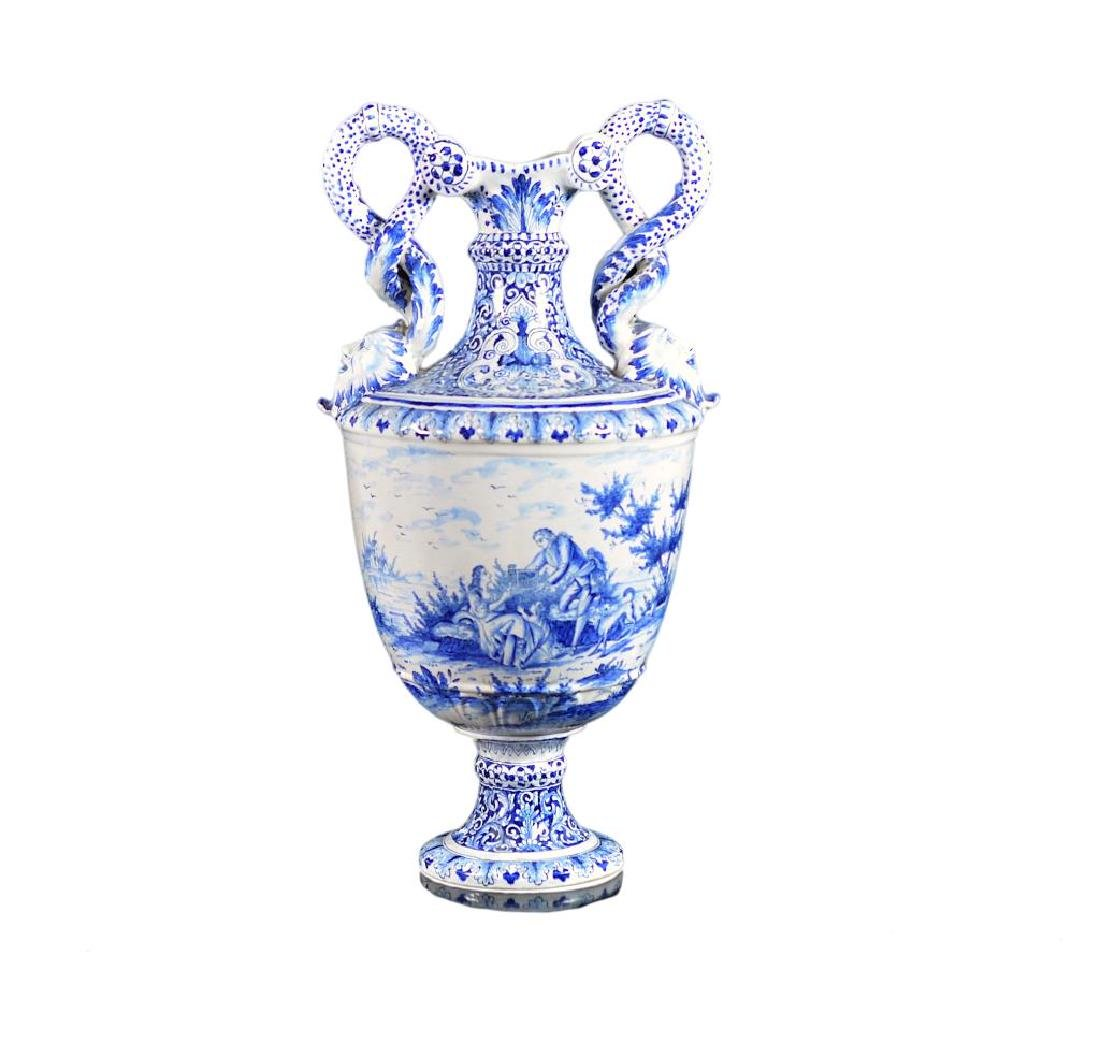 DELFT POTTERY CLASSICAL FORM URN