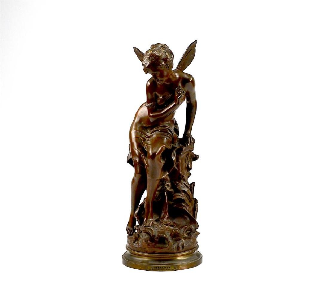 FRENCH BRONZE SCULPTURE OF A FAIRY