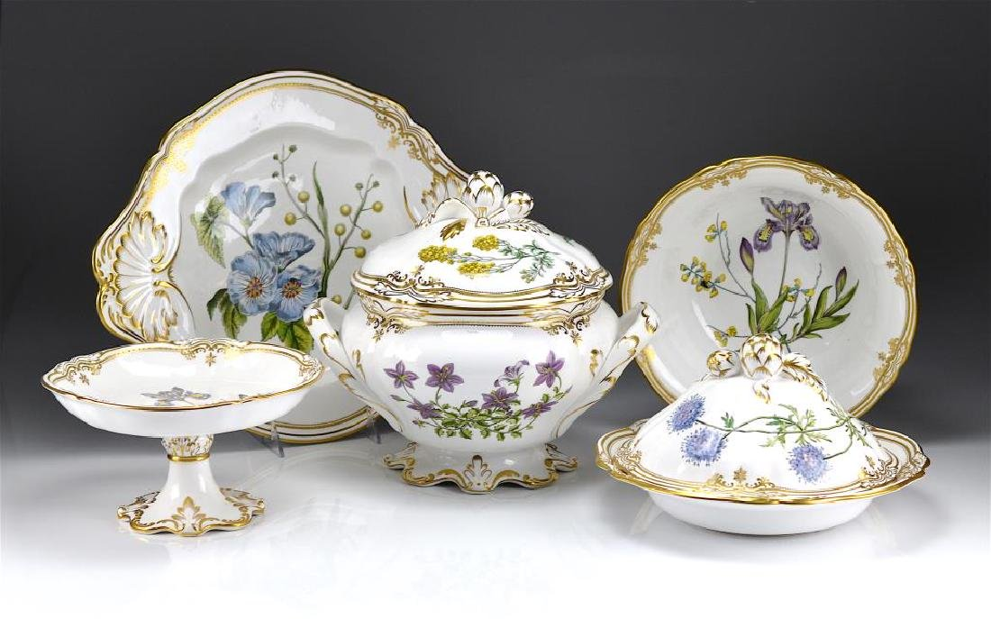 SPODE STAFFORD FLOWERS PATTERN SERVING PIECES