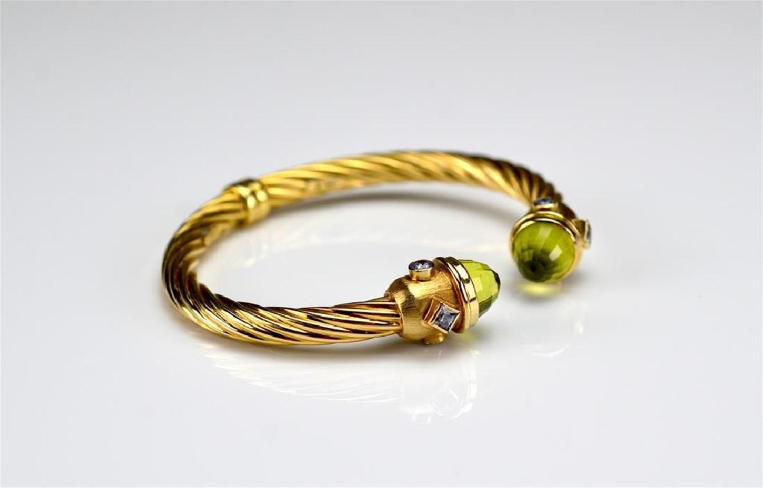 Italian gold cuff bracelet