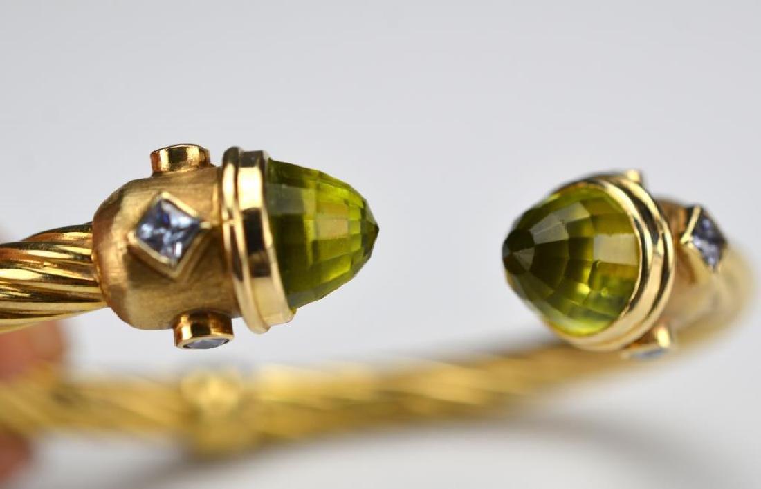 Italian gold cuff bracelet - 3