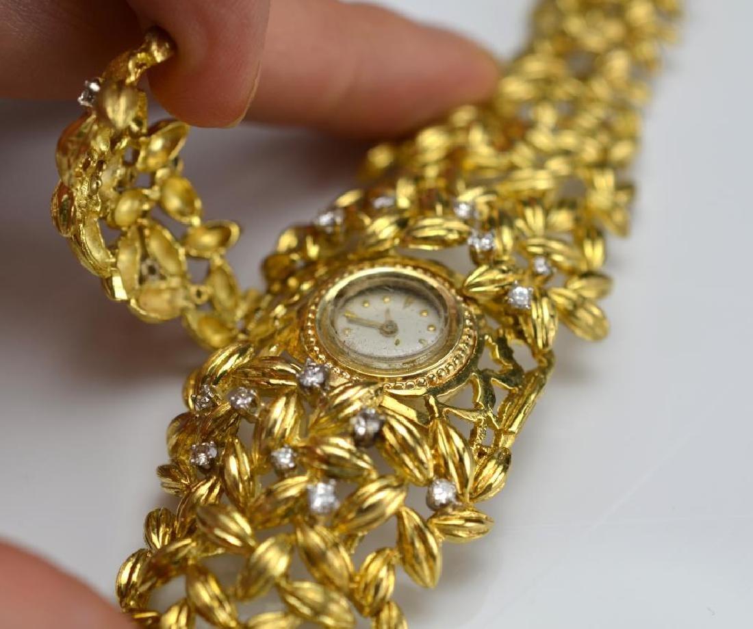 Lady's gold and diamond watch bracelet - 3