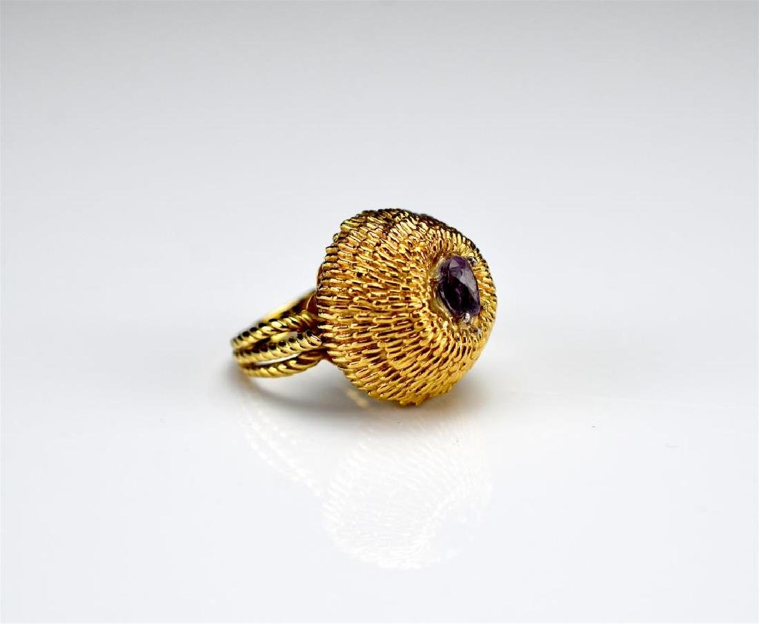 Vintage yellow gold domed ring