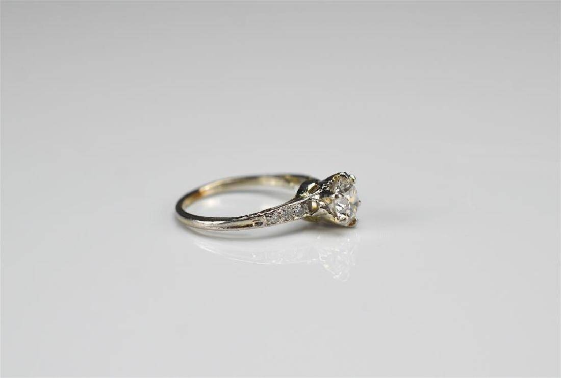 Art Deco platinum and diamond engagement ring - 2