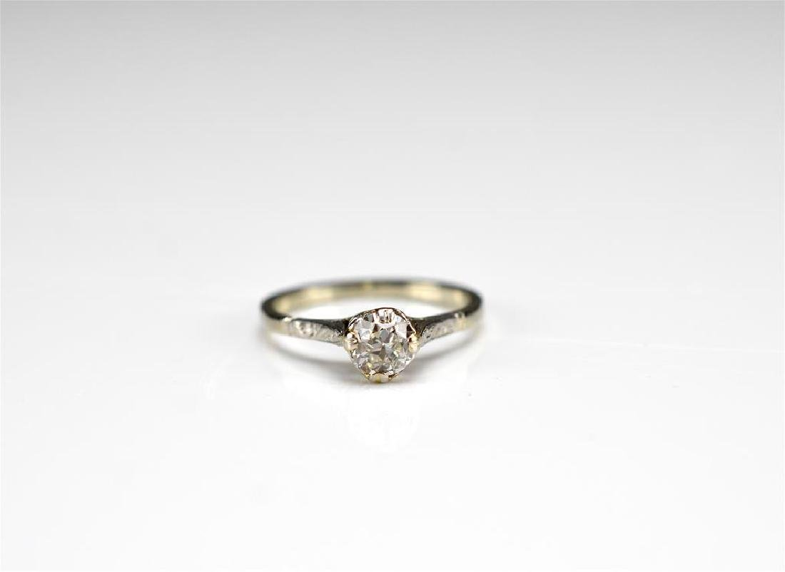 Art Deco gold and diamond engagement ring