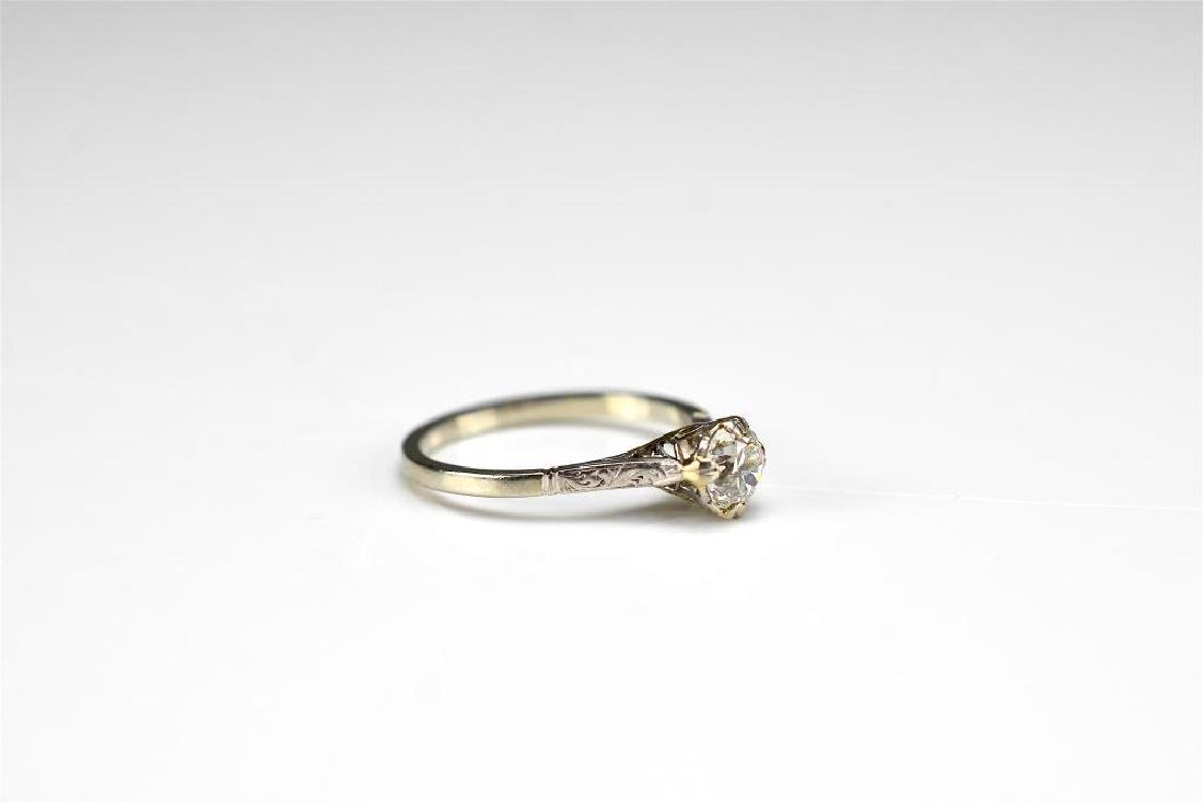 Art Deco gold and diamond engagement ring - 2