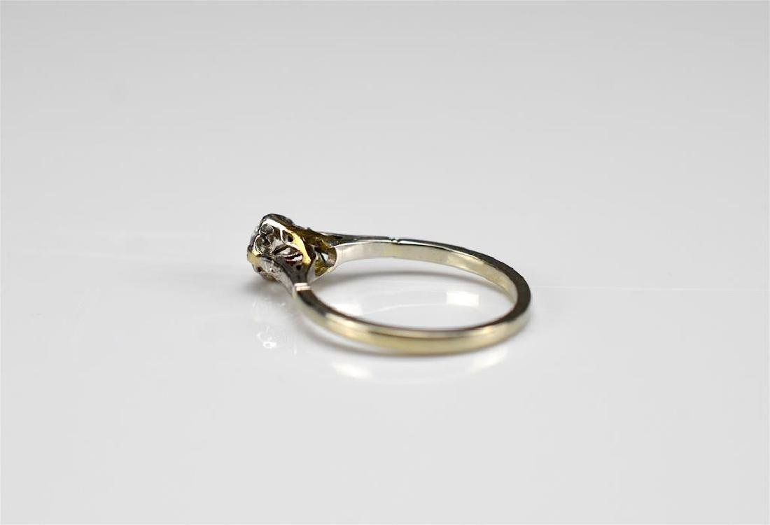 Art Deco gold and diamond engagement ring - 3