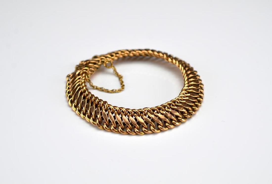 Antique rose gold bracelet