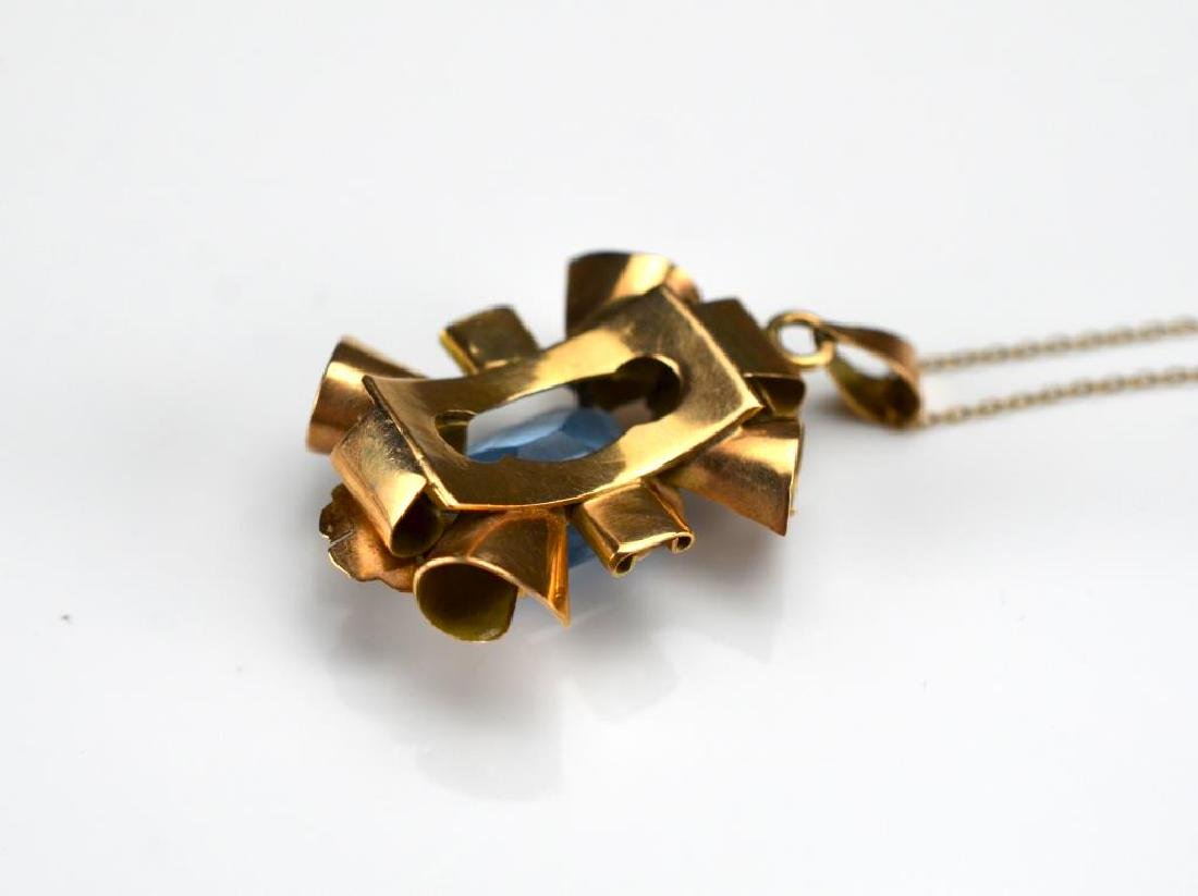 Vintage mixed gold pendant - 2