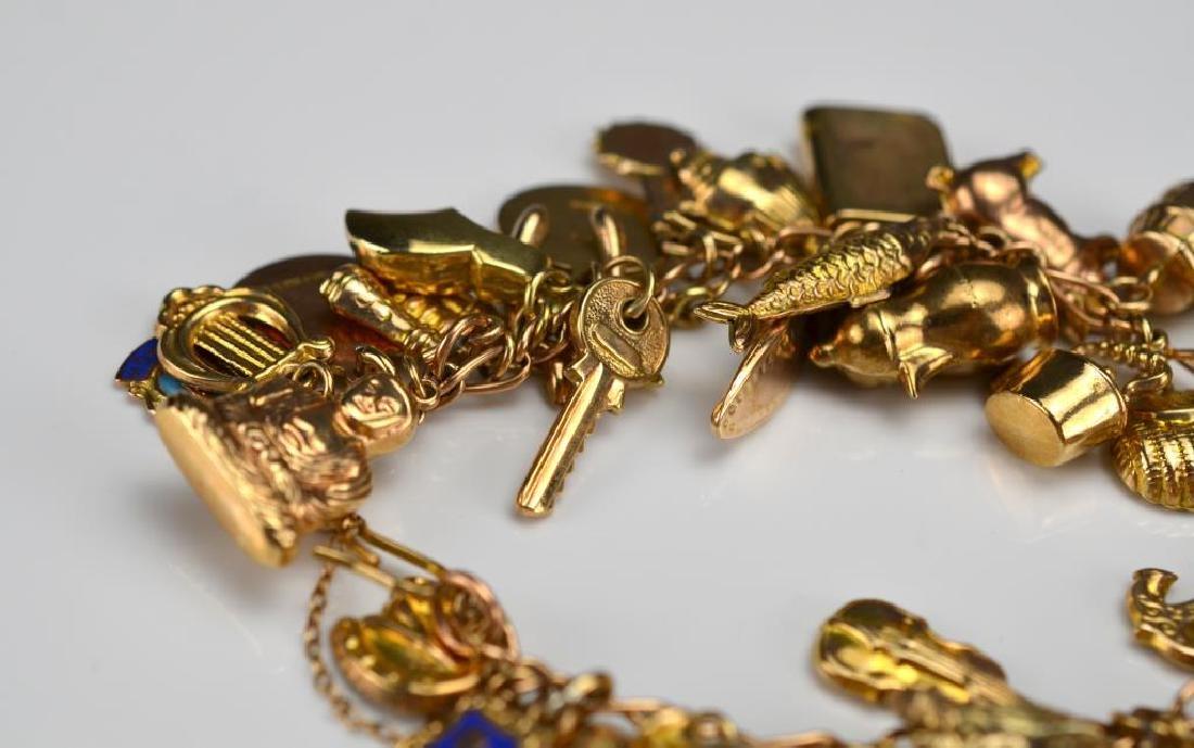 Gold charm bracelet - 2
