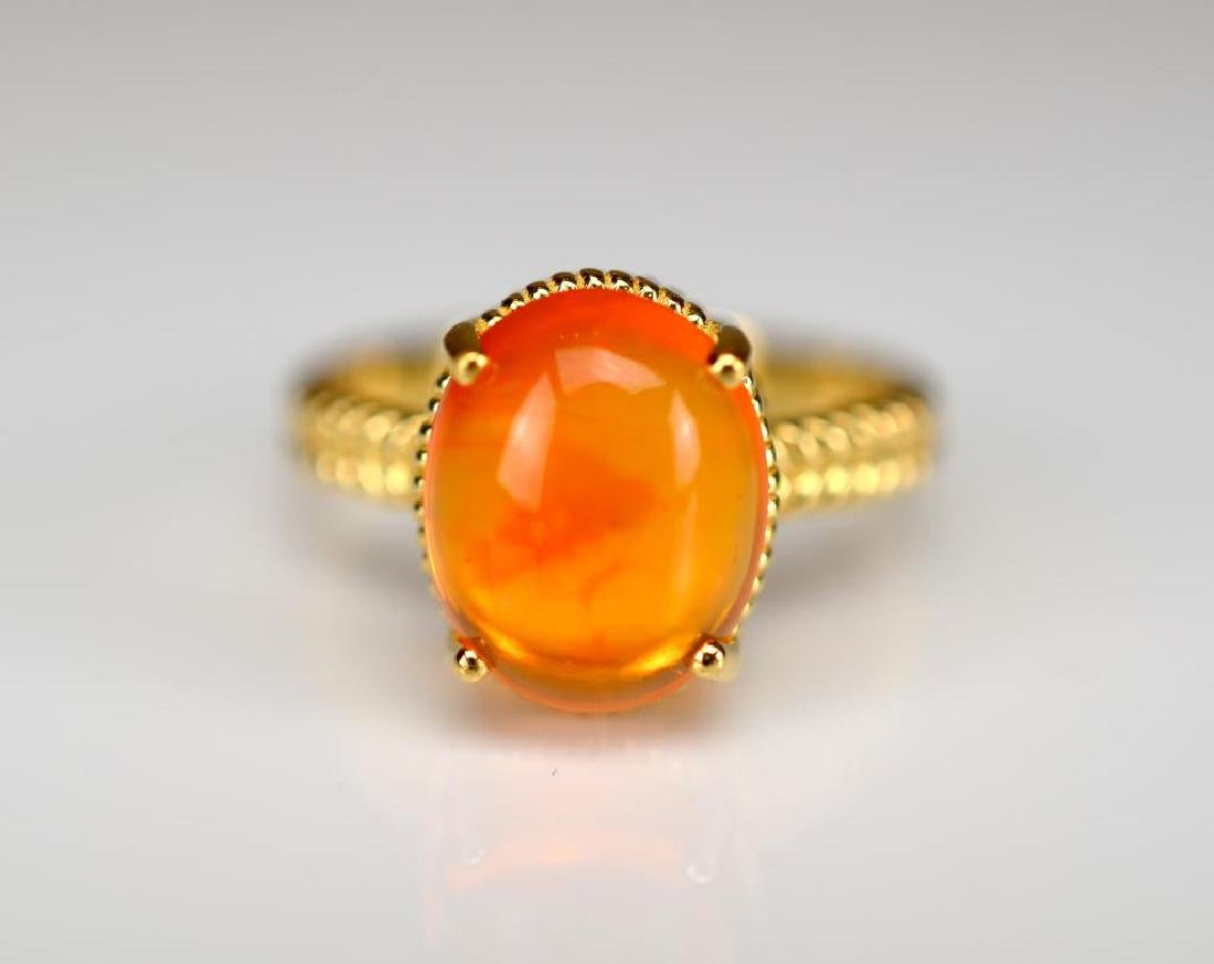 Opal and gold ring - 2