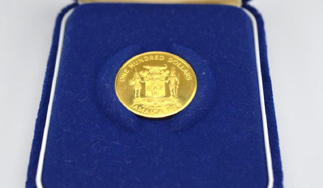Gold Jamaican $100 coin