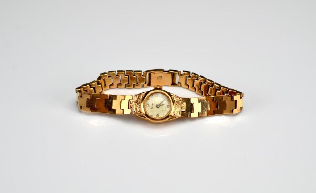 Lady's gold Doxa wristwatch