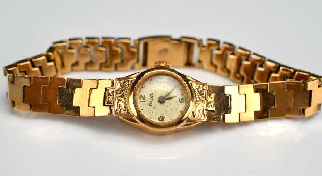 Lady's gold Doxa wristwatch - 2