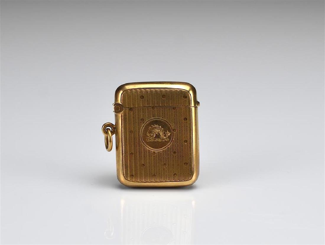 English gold vesta case