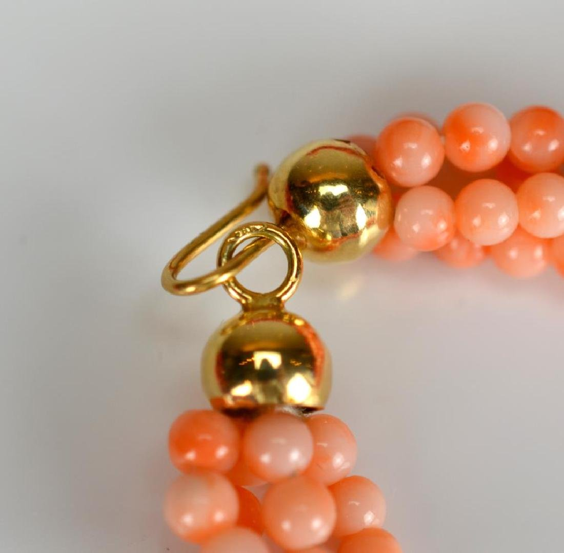 Three coral necklaces - 3