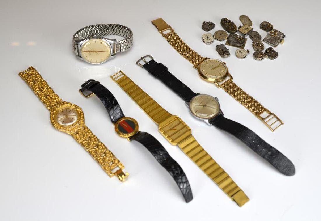 Lot of fashion wristwaches and watch parts
