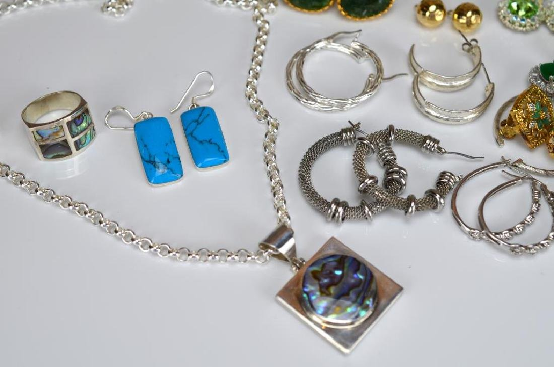 Large lot of costume and silver jewellery - 2