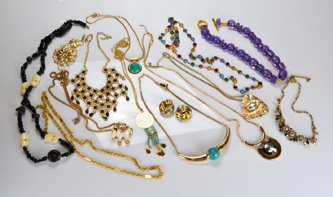 Large lot of beaded & rhinestone costume jewellery - 2