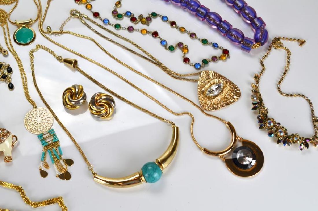 Large lot of beaded & rhinestone costume jewellery - 3