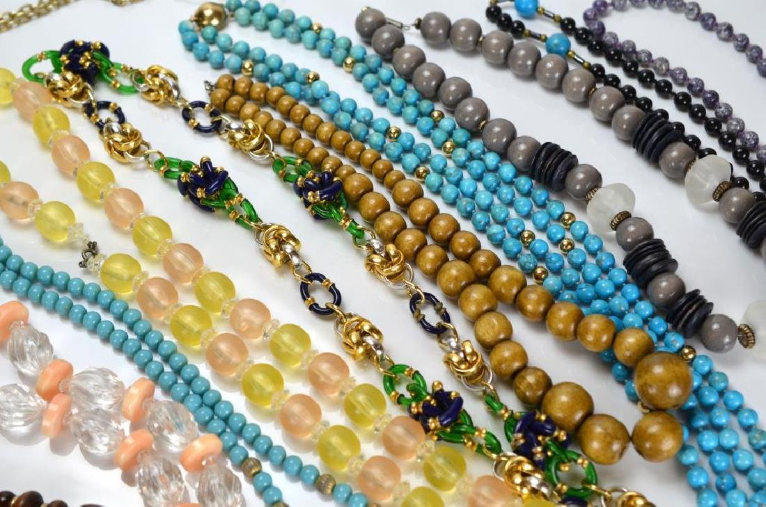 Large lot of beaded and metal necklaces - 2