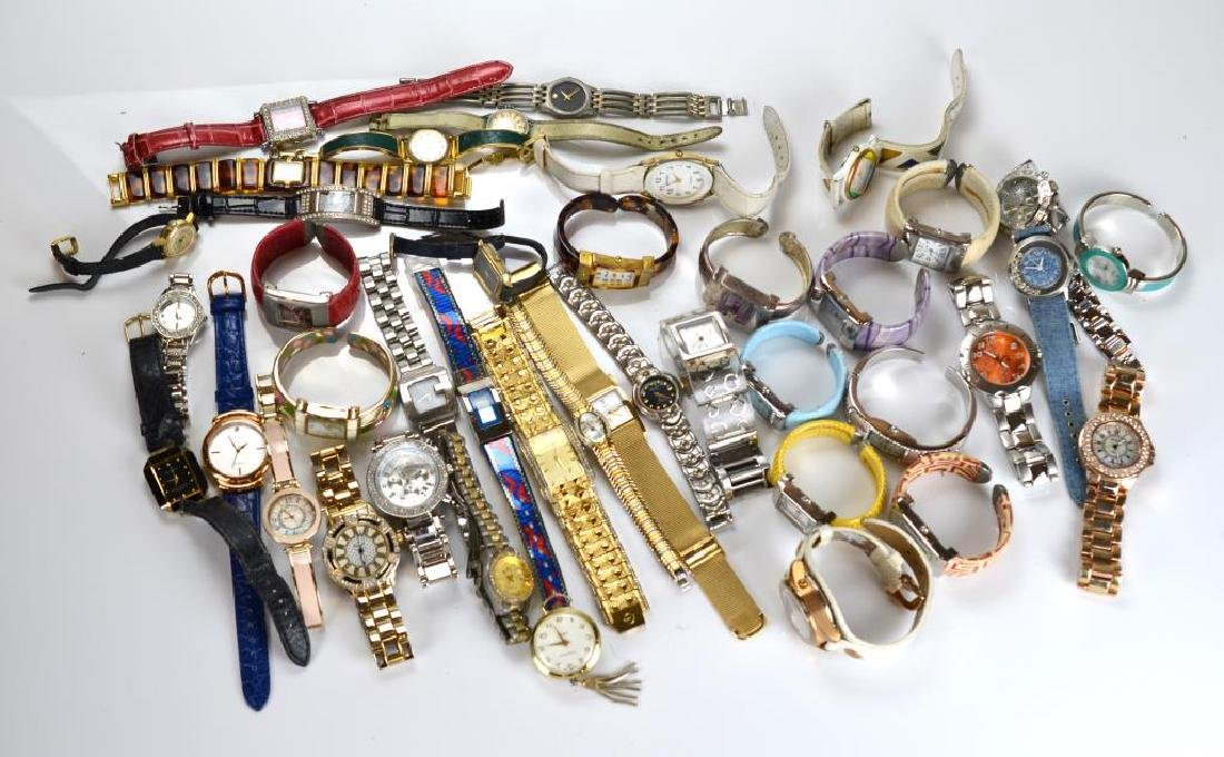 Large lot of lady's wristwatches