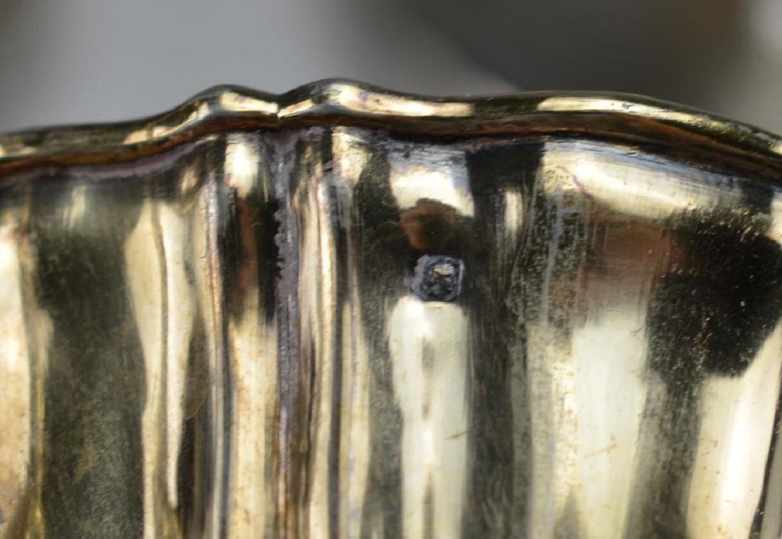 Five French 19th C silver cups & saucers - 4