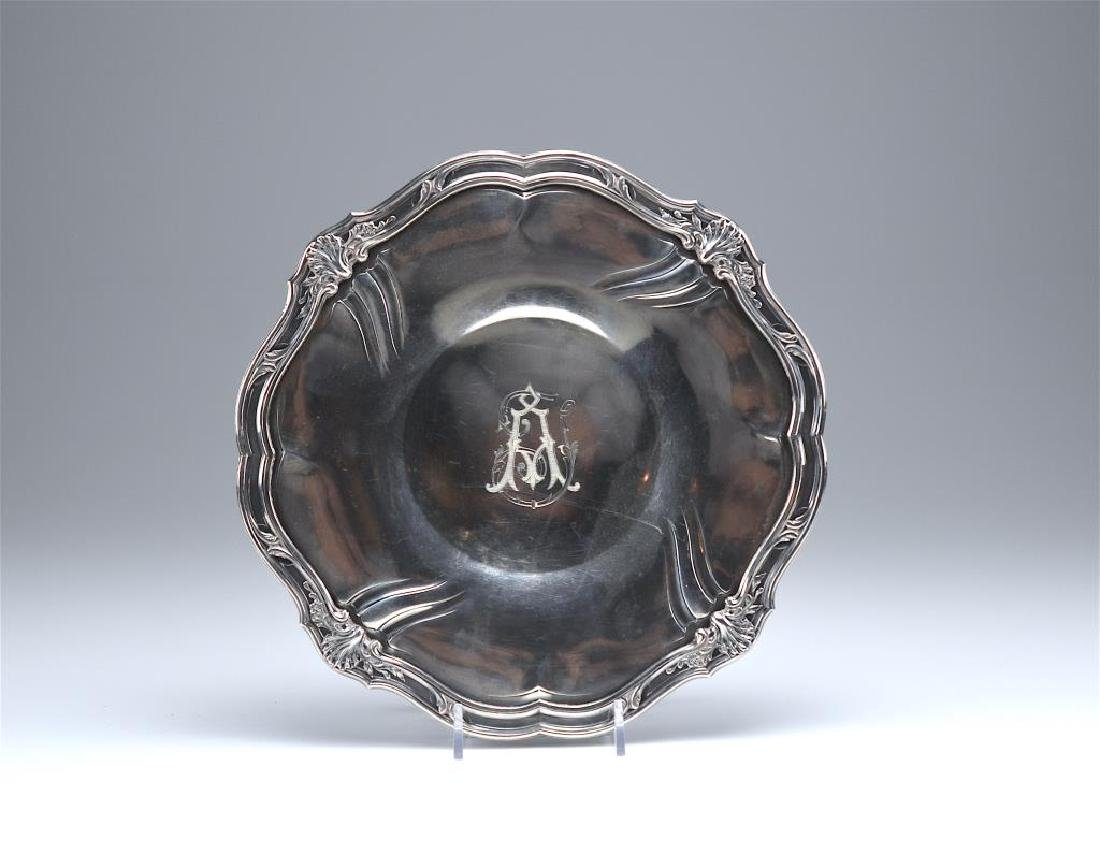 19th C French silver footed comport