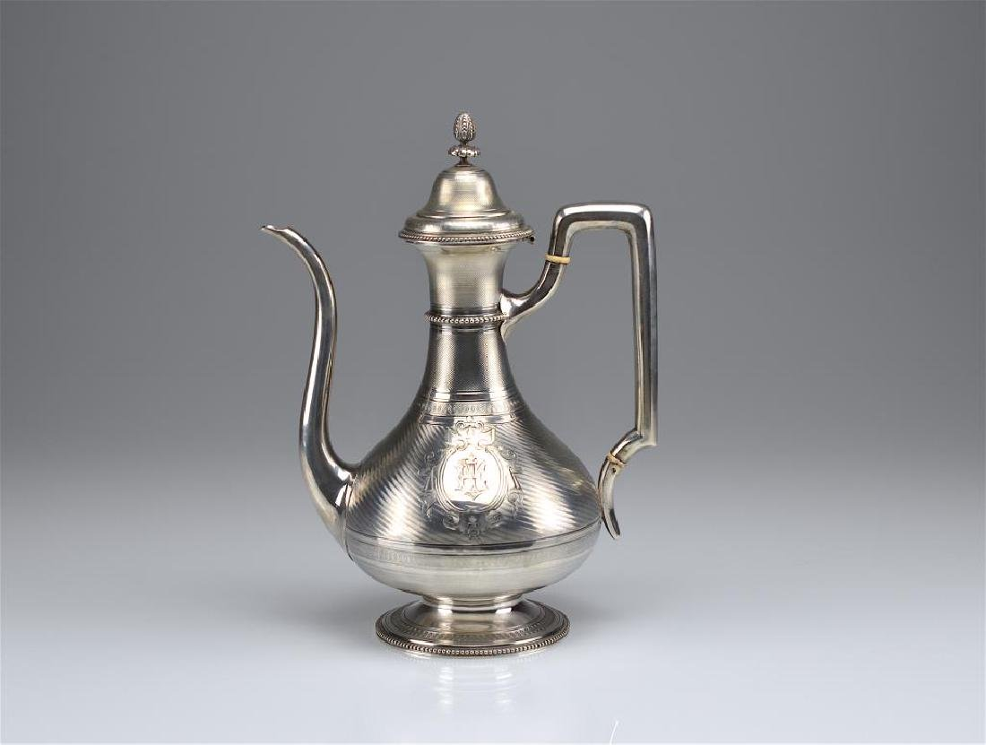 19th C French silver coffee pot