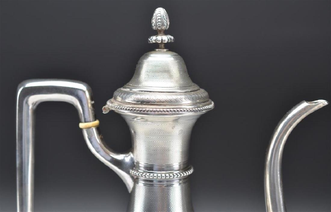 19th C French silver coffee pot - 4