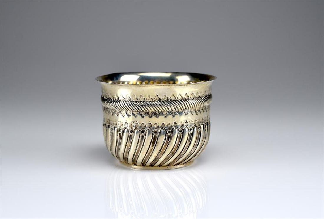 Victorian silver sugar bowl w/ coin insert