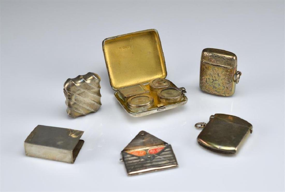 Lot of English silver accessories
