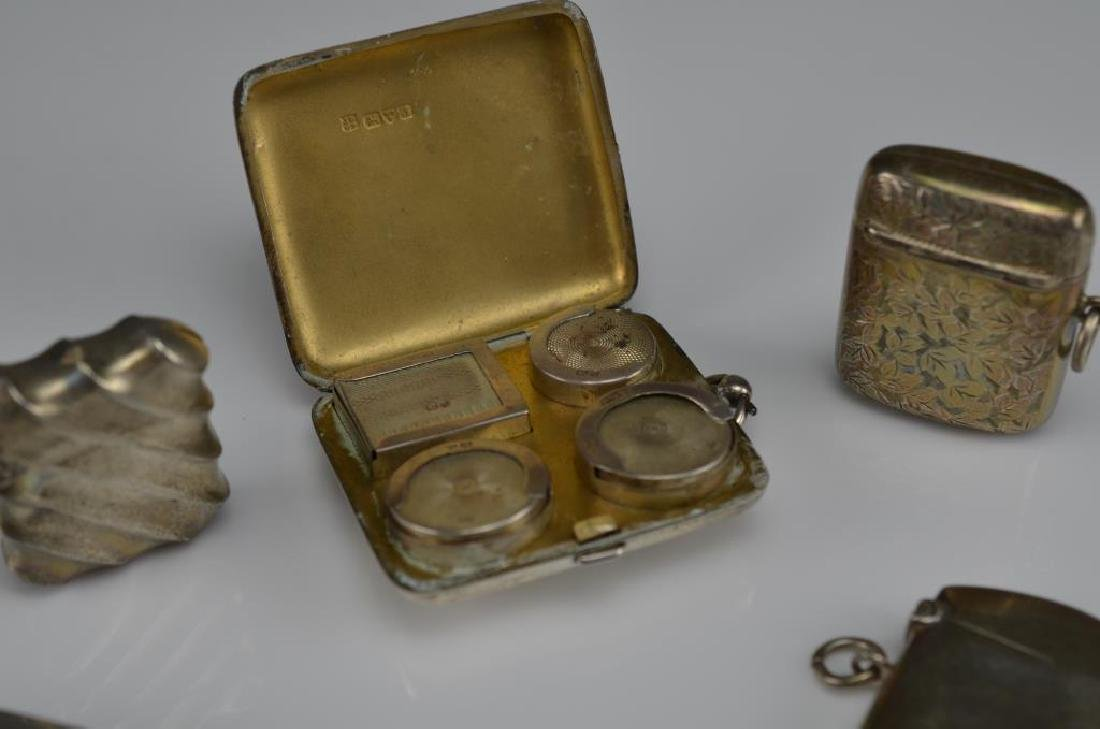 Lot of English silver accessories - 4