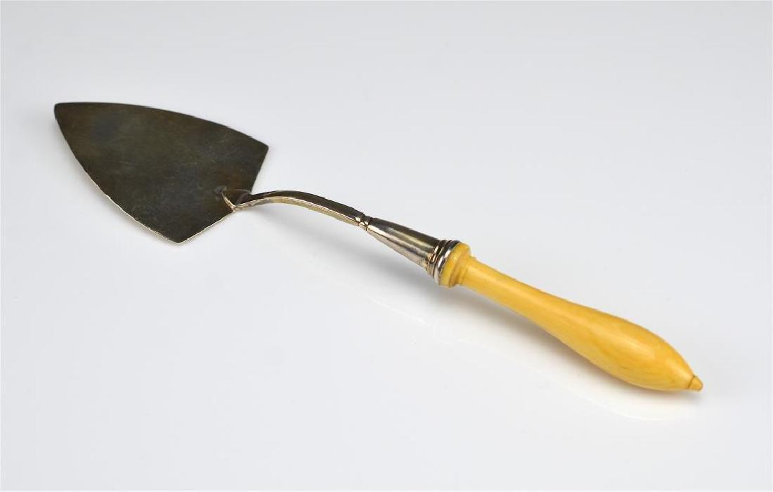 George III English silver trowel