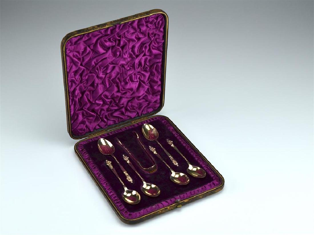 Cased set of Victorian silver apostle spoons - 2
