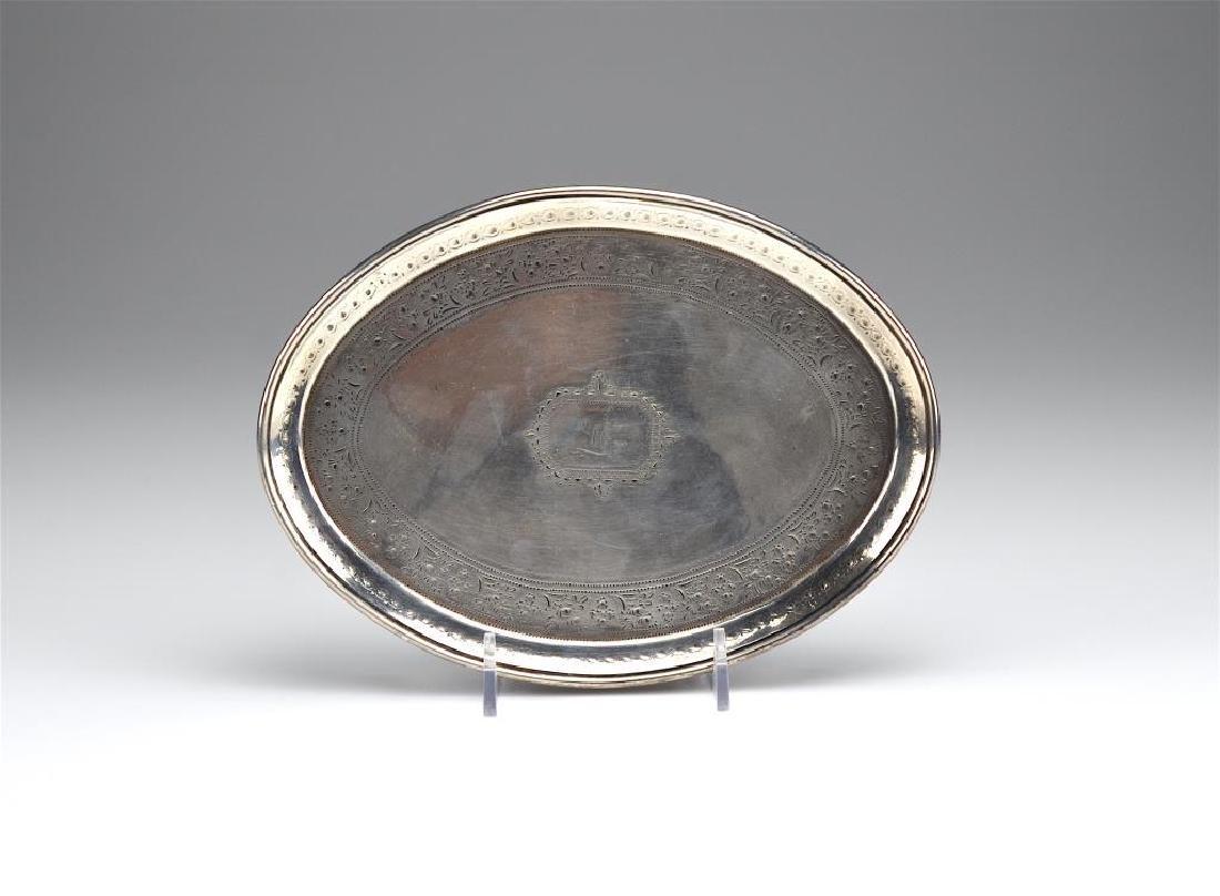 George III Irish silver teapot stand