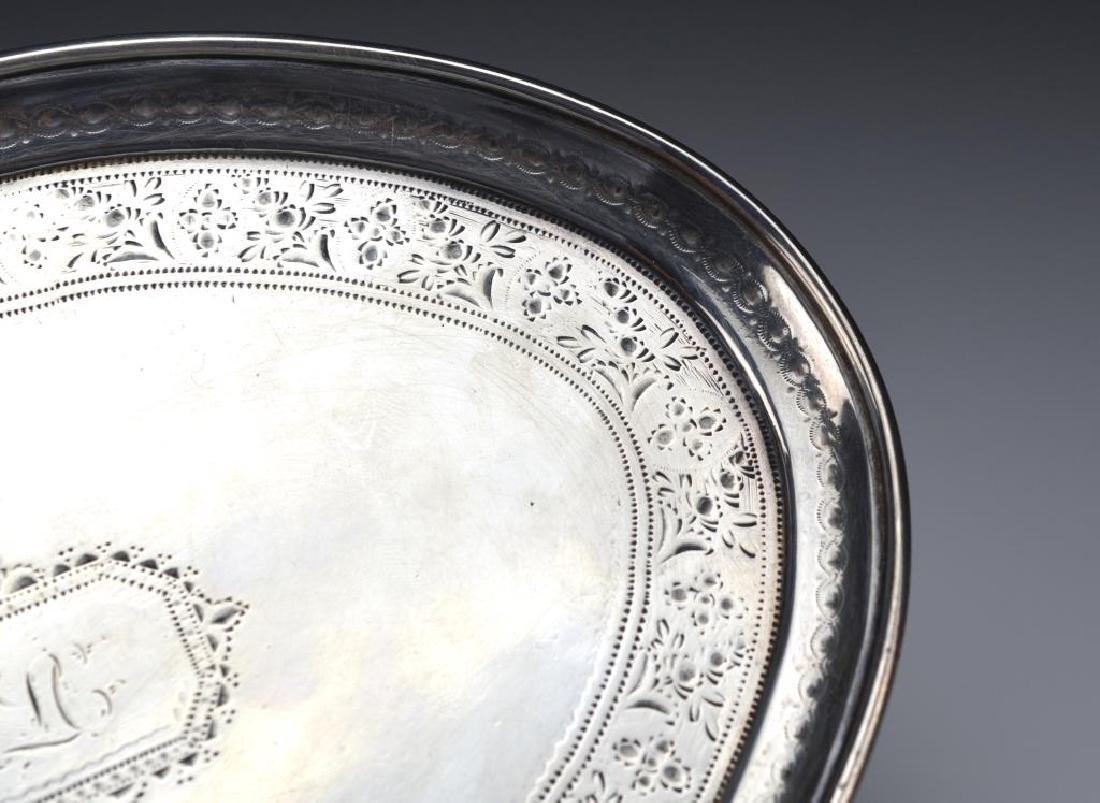 George III Irish silver teapot stand - 4