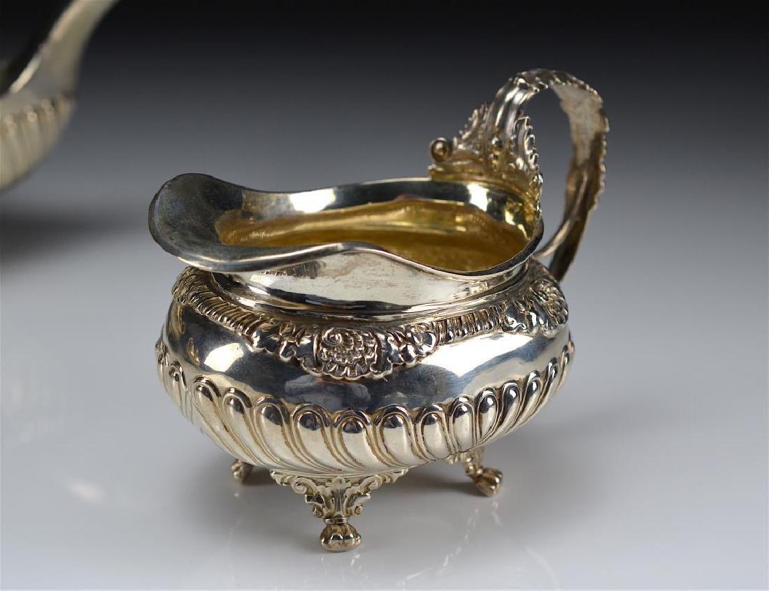 George III English silver tea set - 2