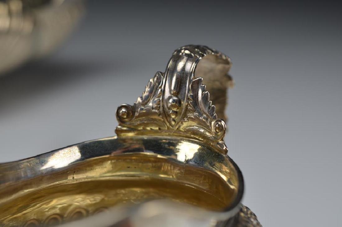 George III English silver tea set - 3