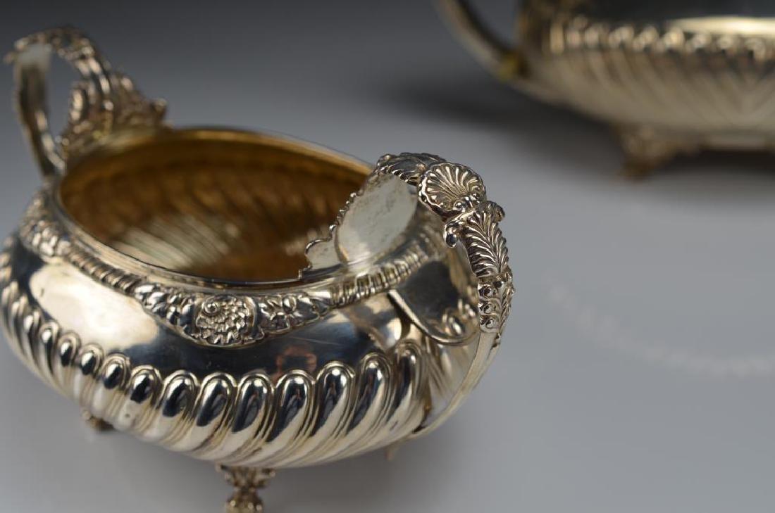 George III English silver tea set - 4