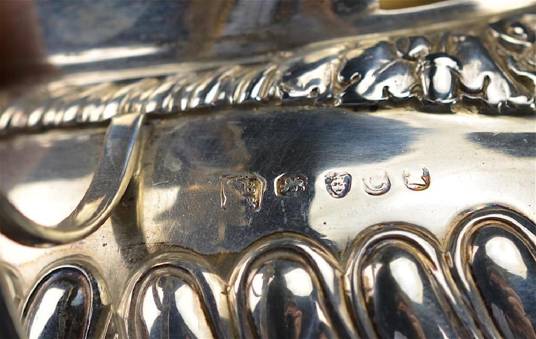 George III English silver tea set - 5