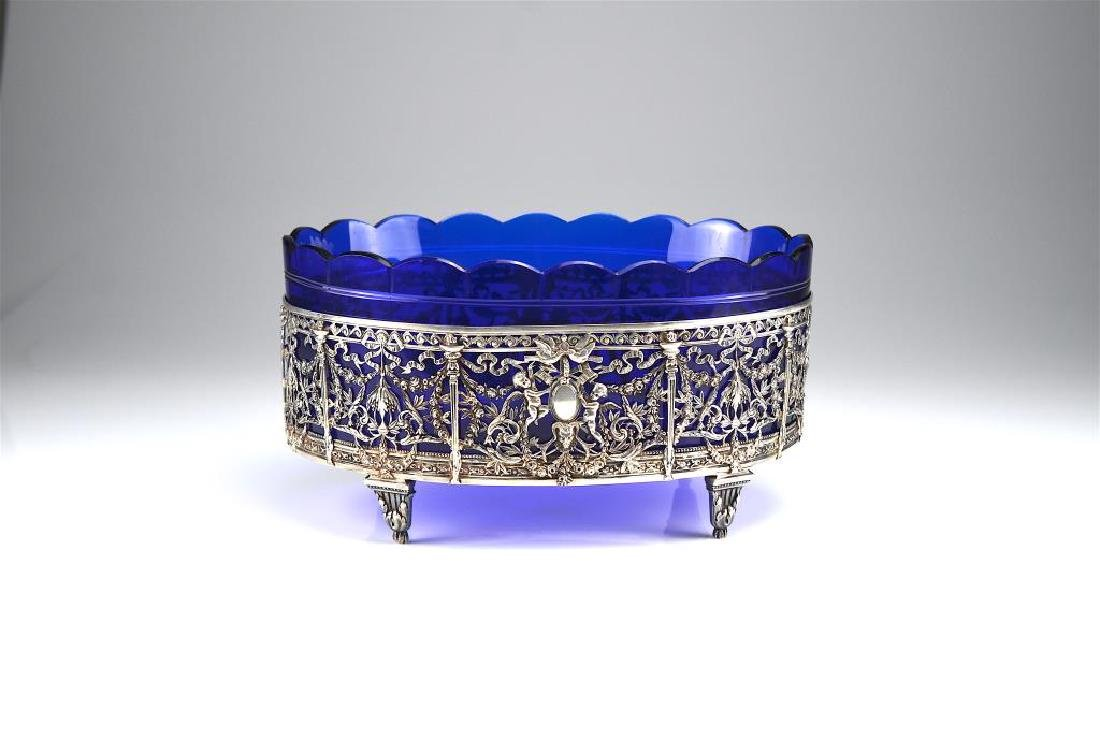 19th C. French silver centrepiece
