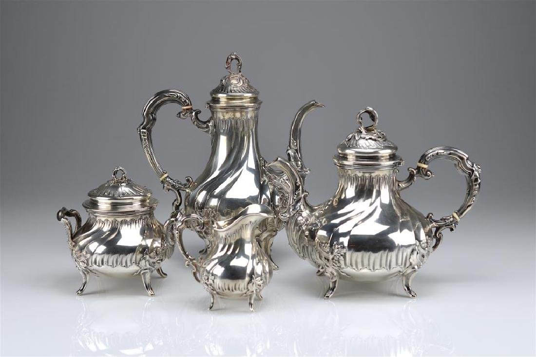 19th C French silver tea and coffee service