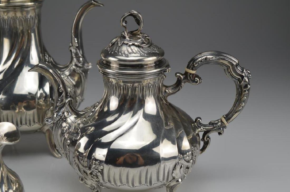 19th C French silver tea and coffee service - 2